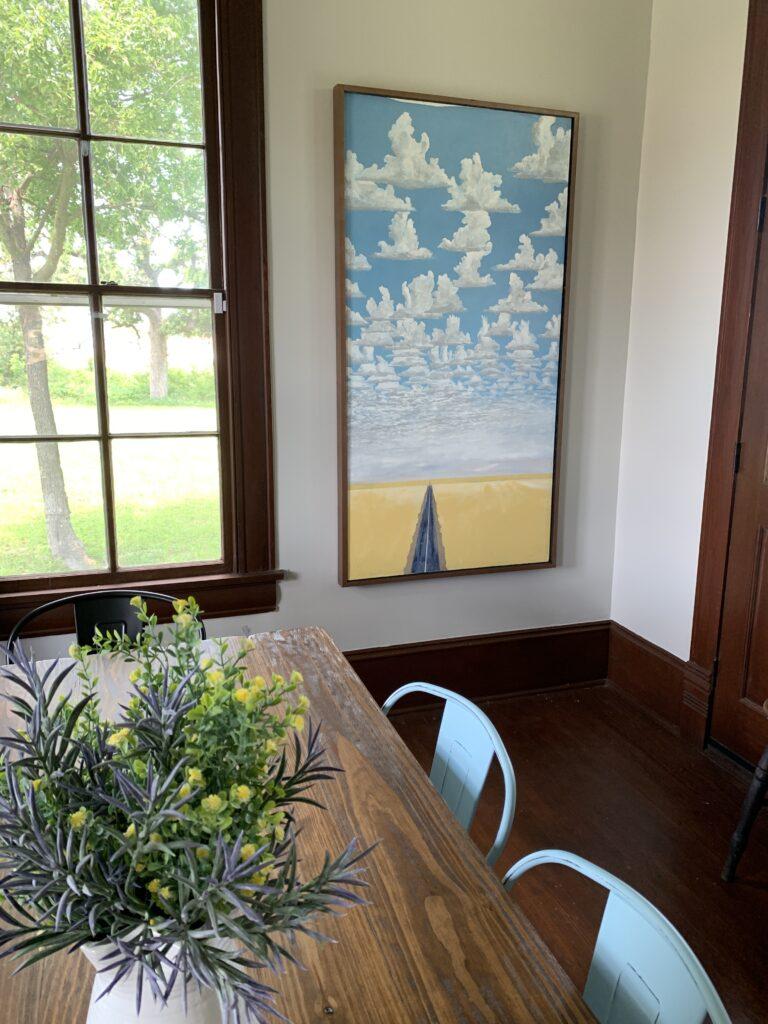 Cloud Island, Kerry Beverly, artwork, Village Farm, Bergstrom Farmhouse, Big Skies,