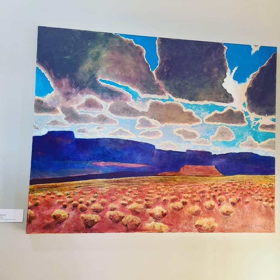 Blue Mesa, Kerry Beverly, artwork, Village Farm, Bergstrom Farmhouse, Big Skies,