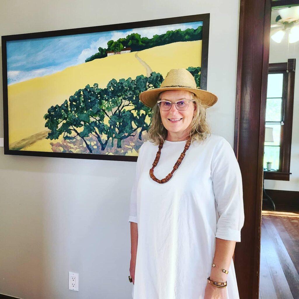 House on the Hill, Kerry Beverly, artwork, Village Farm, Bergstrom Farmhouse, Big Skies,