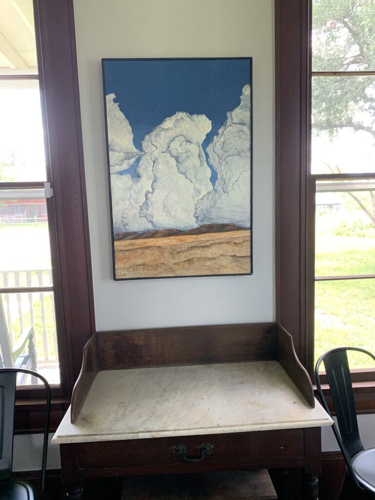 Cloudscape A, Kerry Beverly, artwork, Village Farm, Bergstrom Farmhouse, Big Skies,
